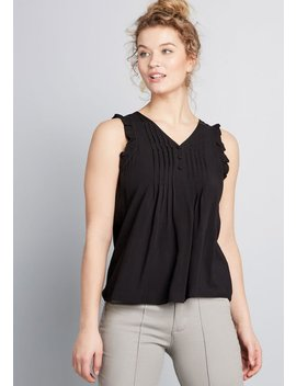 Rife With Ruffles Sleeveless Top by Modcloth