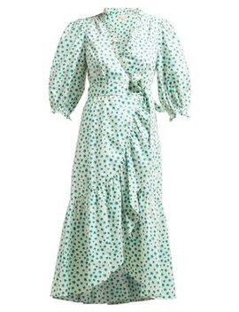 Floral Print Cotton Wrap Dress by Rebecca Taylor
