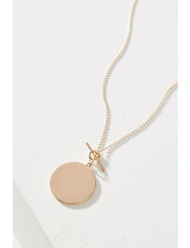 Lea 14 K Gold Vermeil Disc Necklace by Melanie Auld