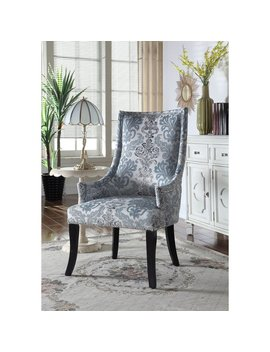 Best Master Furniture Teal Grey Fabric Accent Chair by Generic