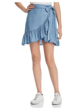 Etienne Chambray Wrap Skirt by Rails