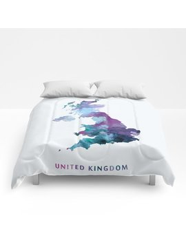 United Kingdom Comforters by Society6