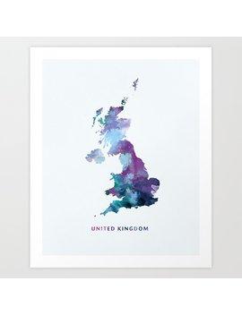 United Kingdom Art Print by Society6
