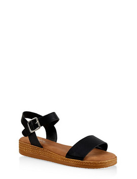 Platform Ankle Strap Sandals by Rainbow