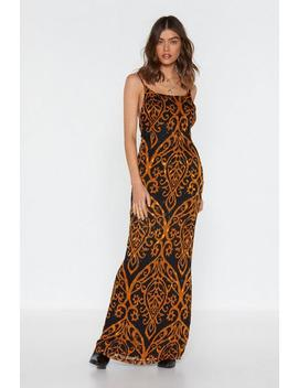 Go Long Printed Maxi Dress by Nasty Gal
