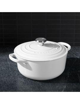 Le Creuset ® Signature White 2.75 Qt. Round Dutch Oven by Crate&Barrel