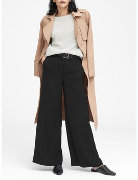 Petite High Rise Wide Leg Pant by Banana Repbulic
