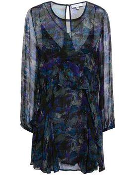 Ruffled Printed Georgette Mini Dress by Iro