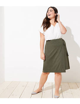 Loft Plus Wrap Skirt by Loft