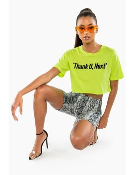 Thank U, Next Crop Tee by A'gaci