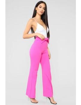 Bad And Bowsie Pants   Fuchsia by Fashion Nova