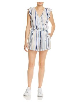 Striped Flutter Sleeve Romper by Bella Dahl