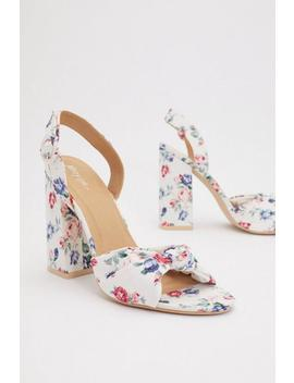 Knot More Florals Heeled Sandals by Nasty Gal