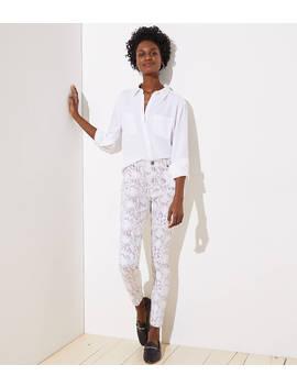 Modern Skinny Jeans In Snake Print by Loft