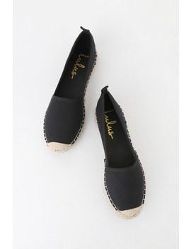 Gamila Black Slip On Espadrille Sneakers by Lulus