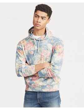 Floral Print Spa Terry Hoodie by Ralph Lauren