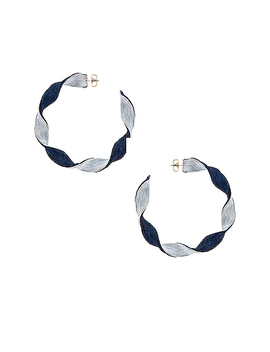 Penelope Hoop Earrings by Rebecca De Ravenel
