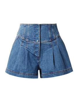 cass-denim-shorts by ulla-johnson