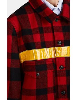 Cruiser Reflective Trimmed Plaid Wool Jacket by Junya Watanabe Man Comme Des Garçons