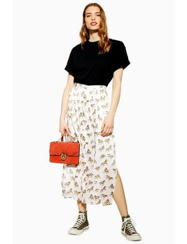 Western Horse Wrap Midi Skirt by Topshop
