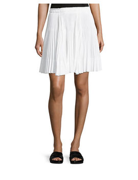 Multi Pleated Short Skirt by Vince