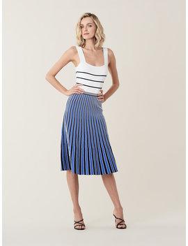 Yasmin Pleated Knit Midi Dress by Dvf