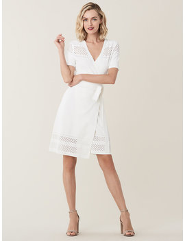 Ivy Perforated Stretch Knit Wrap Dress by Dvf