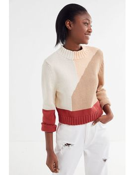 Kordal Studio Vivienne Colorblock Mock Neck Sweater by Kordal Studio