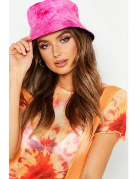 Tye Dye Bucket Hat by Boohoo