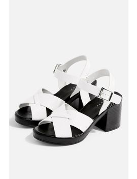 Danna White Two Part Sandals by Topshop