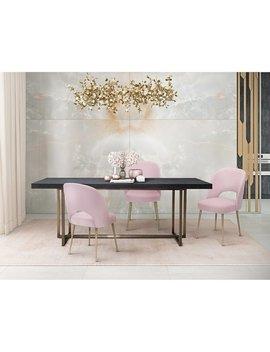 Swell Blush Velvet Chair by Generic
