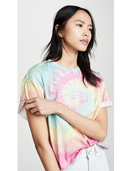 Evan Oversized Roll Sleeve Tee by Alice + Olivia Jeans