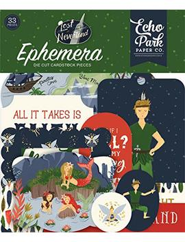 echo-park-paper-company-lin179024-lost-in-neverland-ephemera-navy,-green,-red,-gold by echo-park-paper-company