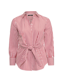 Striped Tie Front Cotton Shirt by Ralph Lauren