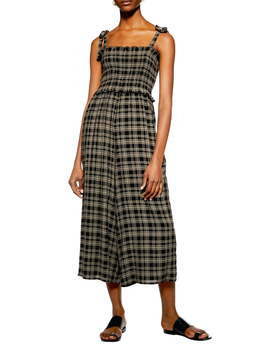 shadow-check-culotte-jumpsuit by topshop