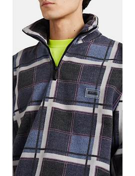 Plaid Fleece Quarter Zip Pull Over by Napa By Martine Rose