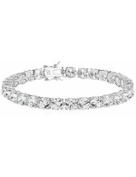 amazon-essentials-plated-sterling-silver-round-cut-cubic-zirconia-tennis-bracelet by amazon-essentials