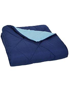 amazonbasics-reversible-microfiber-comforter---twin_twin-extra-long,-navy-blue by amazonbasics