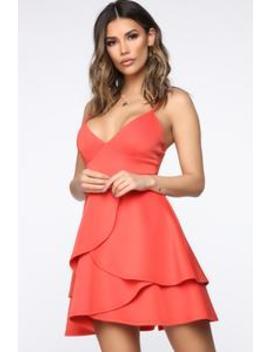 Mine For The Night Flare Mini Dress   Orange by Fashion Nova