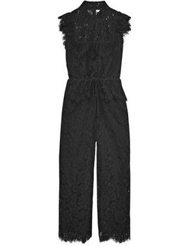 Ruffled Corded Lace Jumpsuit by Ganni