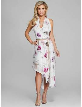 Floral Halter Chain Belt Dress by Guess