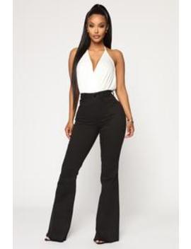 Ariana Flare Jeans   Black by Fashion Nova