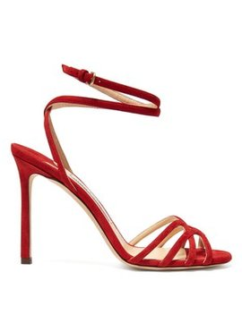 Mimi 100 Wrap Around Suede Sandals by Jimmy Choo