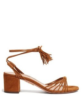 Mescal 50 Wrap Around Suede Sandals by Aquazzura