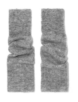 Ribbed Knit Fingerless Gloves by Ganni