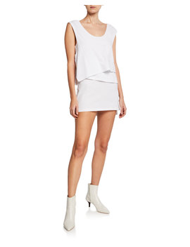High Twist Scoop Neck Layered Muscle Mini Dress by Alexanderwang.T