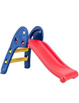 baby-joy-folding-slide,-indoor-first-slide-plastic-play-slide-climber-for-kids-(round-rail) by baby-joy