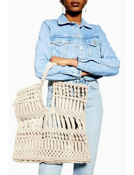 Shake Woven Rope Tote Bag by Topshop