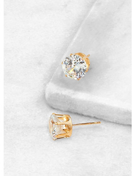 Round 10mm Cubic Zirconia Earrings by Rainbow