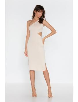 Cut Out With The Old One Shoulder Midi Dress by Nasty Gal
